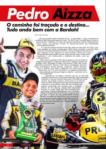 Pedro Aizza em matéria da Revista Podium