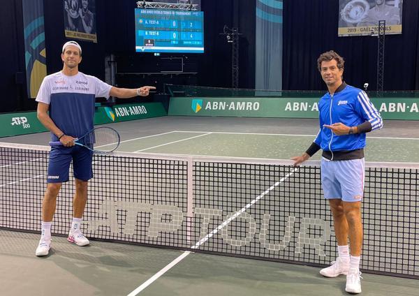 Primeiro treino de Melo e Rojer em Roterdã