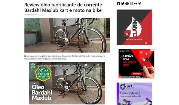 Reprodução do site Bike Aos Pedaços