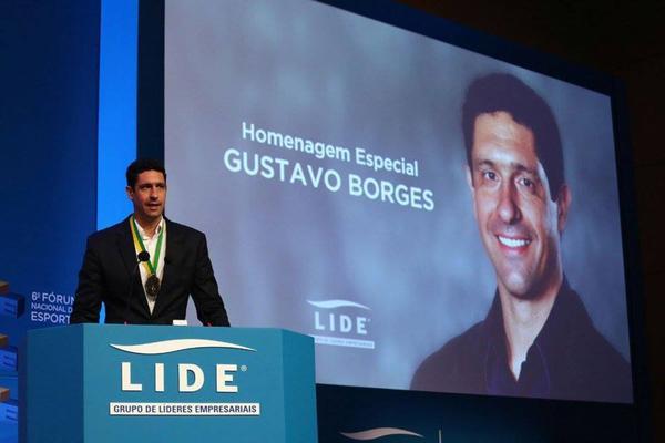 Gustavo Borges no evento em São Paulo