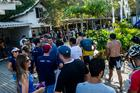 Fila para retirar o kit da Maratona XCM (Ney Evangelista / Brasil Ride)