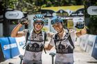 Wolfgang e Sherman após completarem a última etapa (Fabio Piva / Brasil Ride)