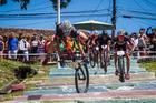 O italiano Fabian Rabensteiner caiu na escadaria (Fabio Piva / Brasil Ride)