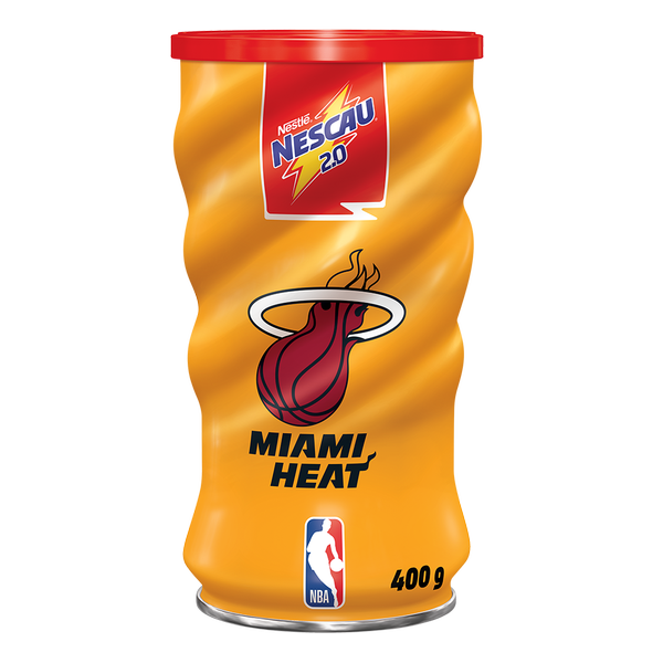 NESCAU® lança edição especial de latas colecionáveis com times da NBA. Lata  Chicago Bulls (Divulgação). Lata Miami Heat (Divulgação) 4971ffe4740
