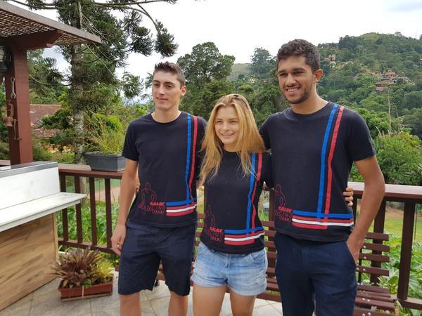 Edson, Marcela e Pedro, integrantes do projeto